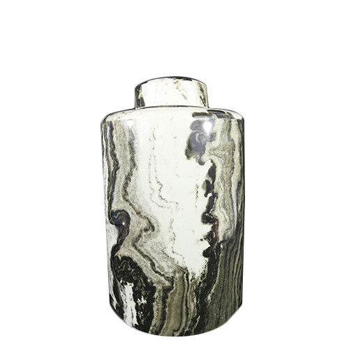 Brown Marble Like Jar With Lid Ⅱ