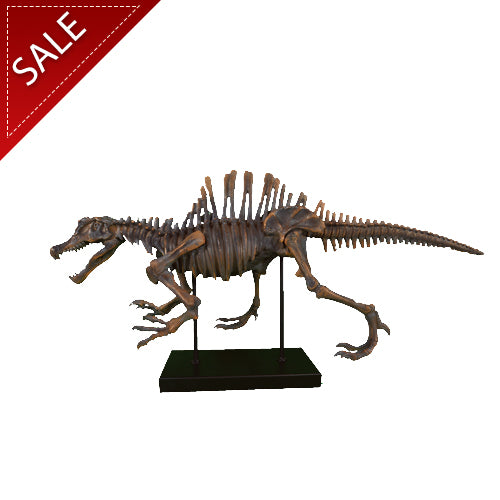 Large Brown Polystone Dinosaur Sculpture