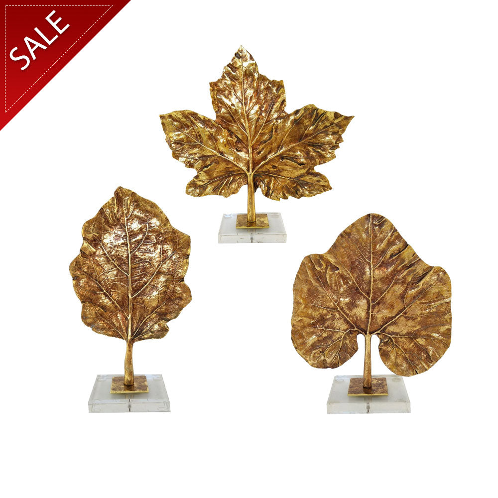 Poly Gold-leaf Leaf With Acrylic Base