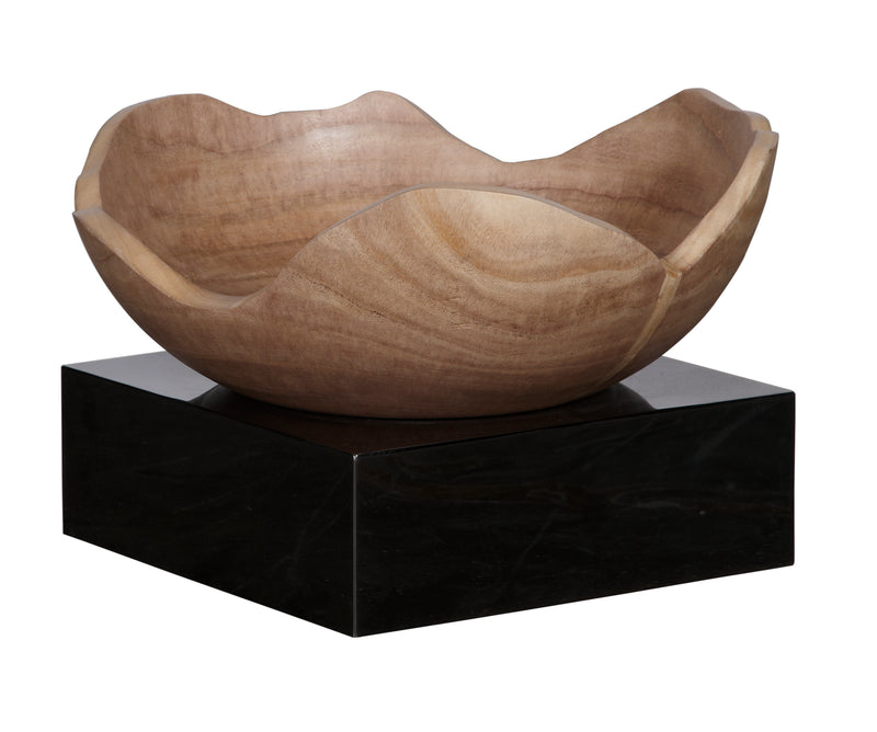 Paulownia Wooden Bowl on Stainless Steel Platform Ⅱ