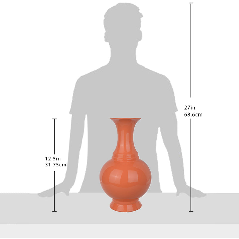 Orange Ceramic Modern Style Vase Ⅱ