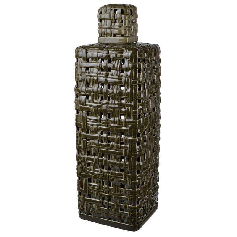 Ballas Tall Lidded Jar