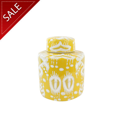 Yellow Ceramic Lidded Jar Ⅰ