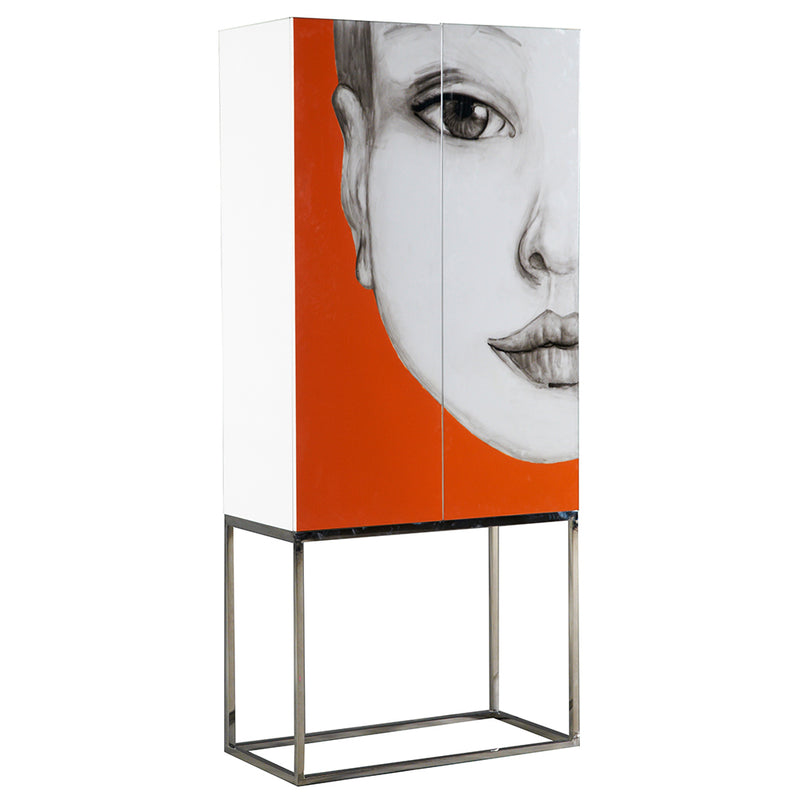 Home Decoration Face Painting Rack Orange