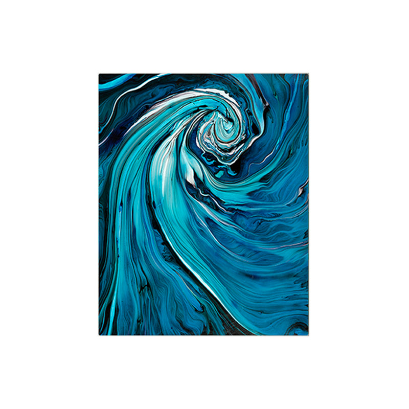 Electric Blue Handmade Painting
