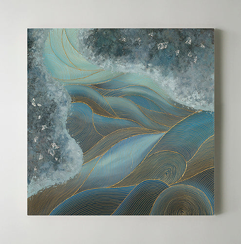 Wave Art Abstract Painting