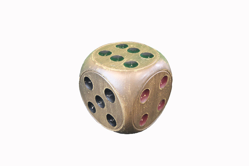 Resin Dice Décor, Brown