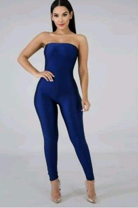Strapless Royal blue Jumpsuit