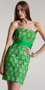 MD Consignment Short Green Cocktail dress