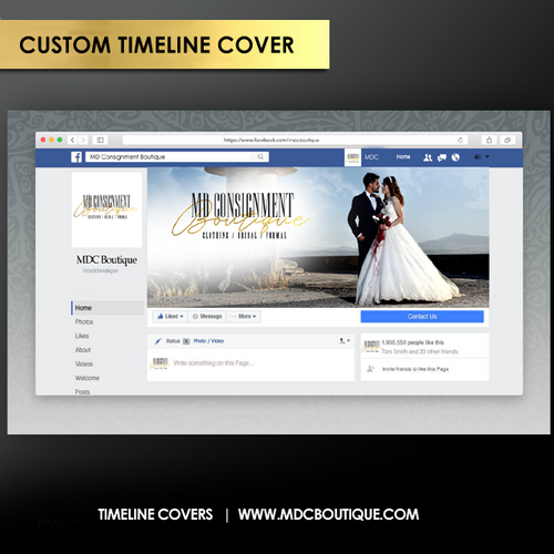 Customized Social Media Timeline Banner