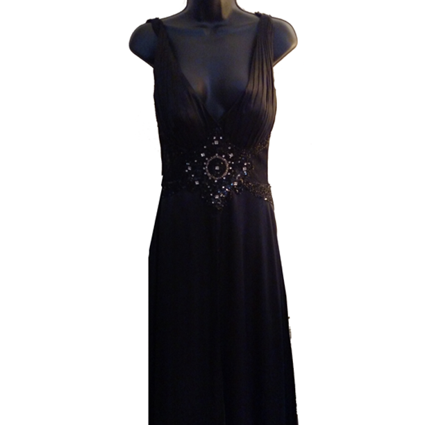 MD Consignment Tiffany Designs Black Embellished Gown