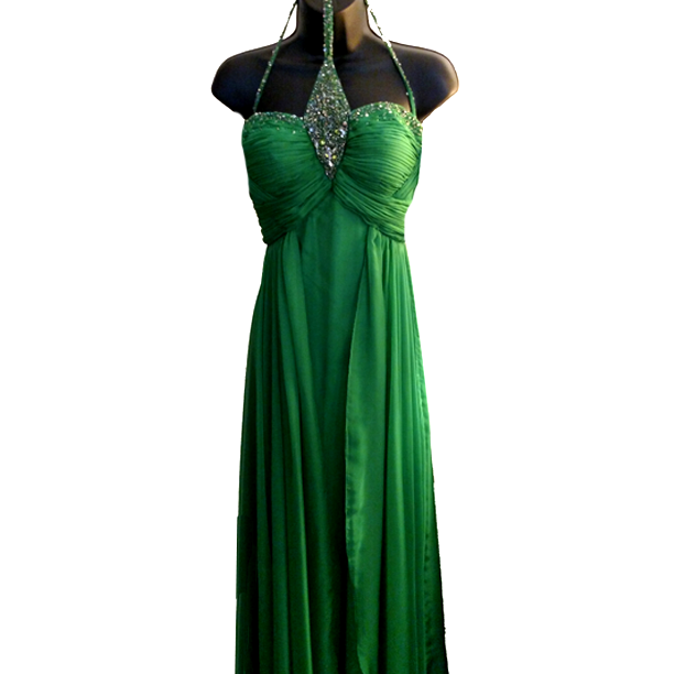 MD Consignment MacDuggal Green Embellished Gown