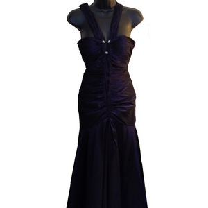 MD Consignment Mori Lee Deep Purple Mermaid Gown
