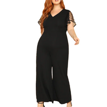 Load image into Gallery viewer, Mesh Sleeve Palazzo Jumpsuit