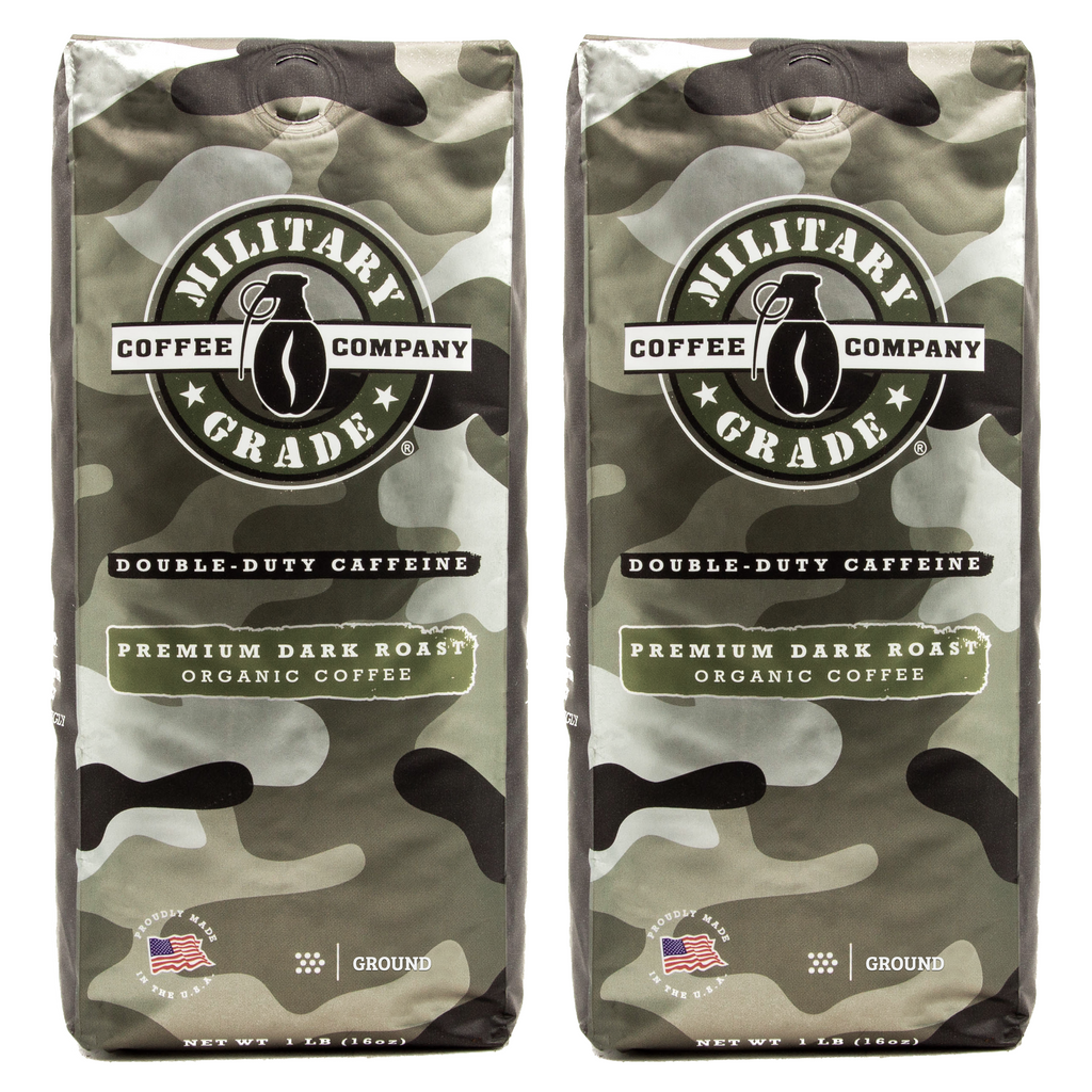 2 Bags of Military Grade Coffee - Dark Roast - 1 lb - Ground