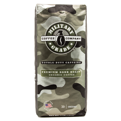 Military Grade Coffee - Dark Roast - 1 lb - Ground