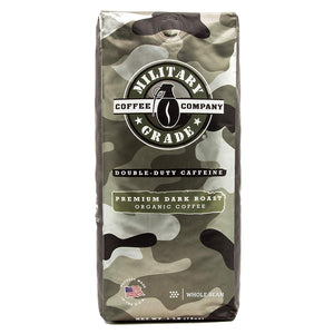 Military Ground Coffee - Dark Roast - 1 LB - Whole Bean