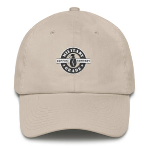 Military Grade Coffee (black and white) Hat