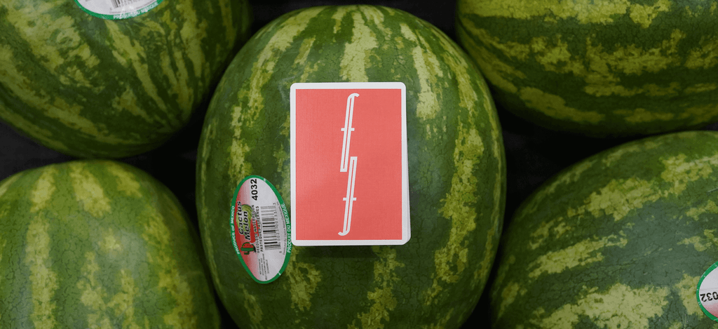 Watermelon Fontaine Playing Cards