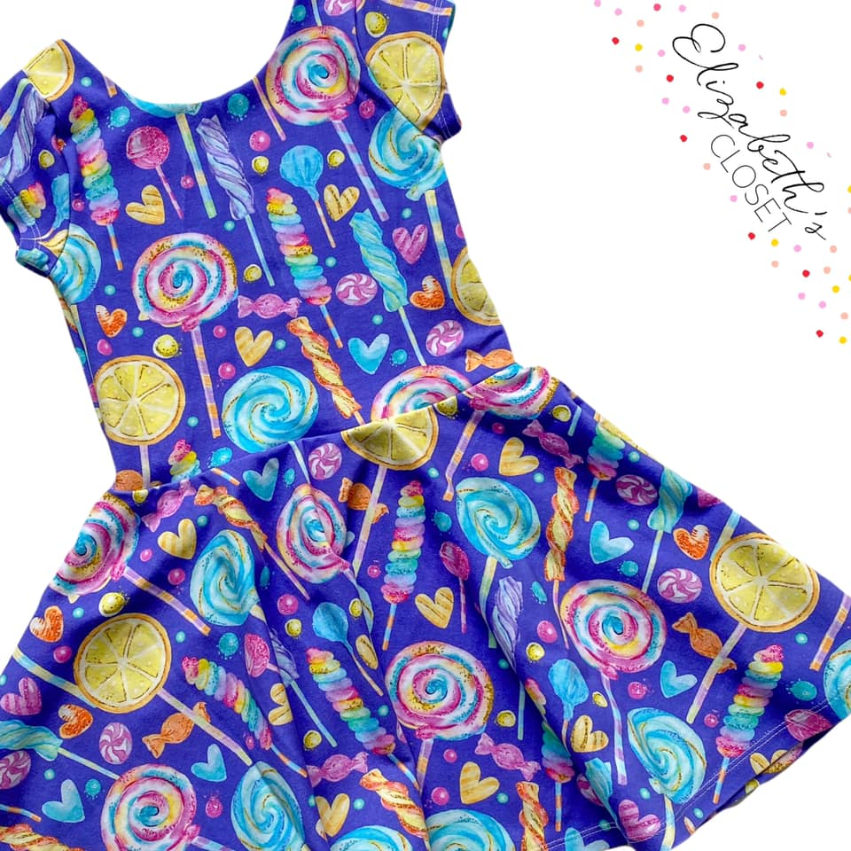 Purple Lollypop Twirl Dress