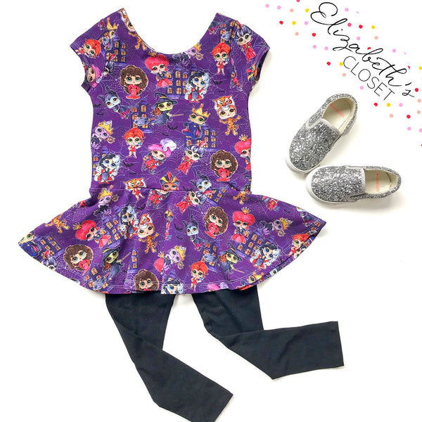 Halloween Dolls Peplum Top