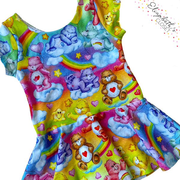 Colorful Bears Peplum Top