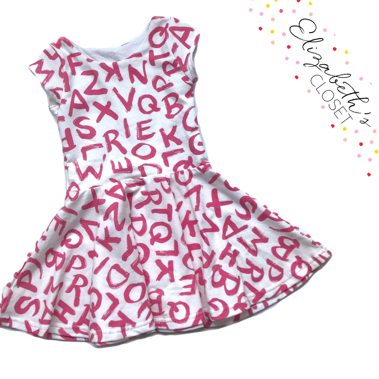 Pink Alphabet Twirl Dress