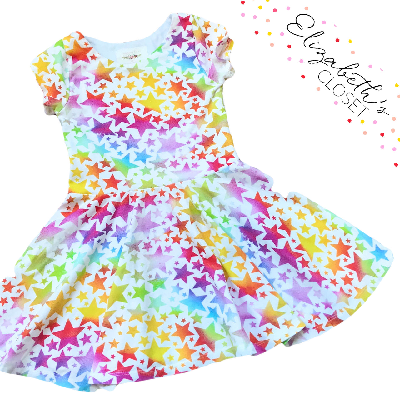 Rainbow Star Twirl Dress