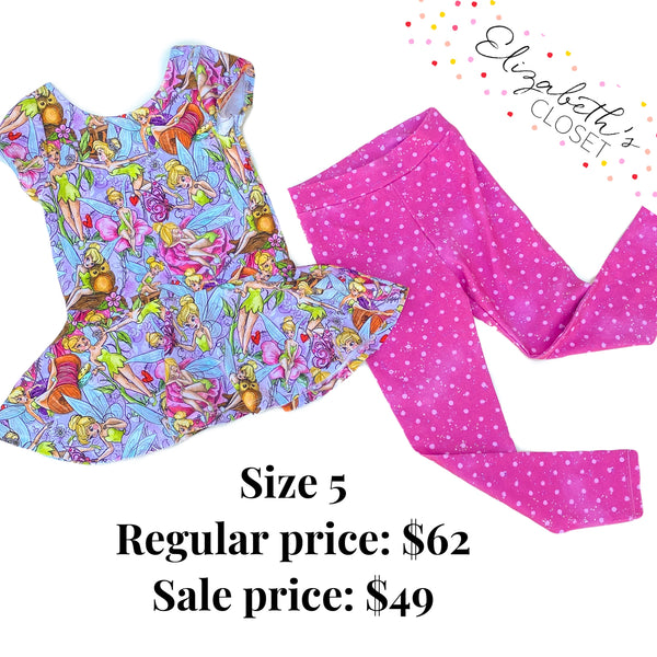 Fairy Peplum and Leggings Set, size 5