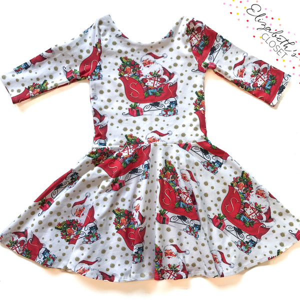 Vintage Santa Twirl Dress