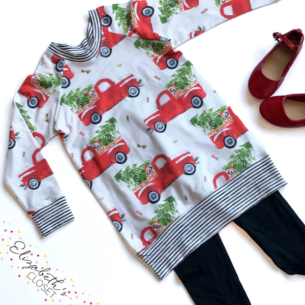 Vintage Trucks Dog Christmas Tunic