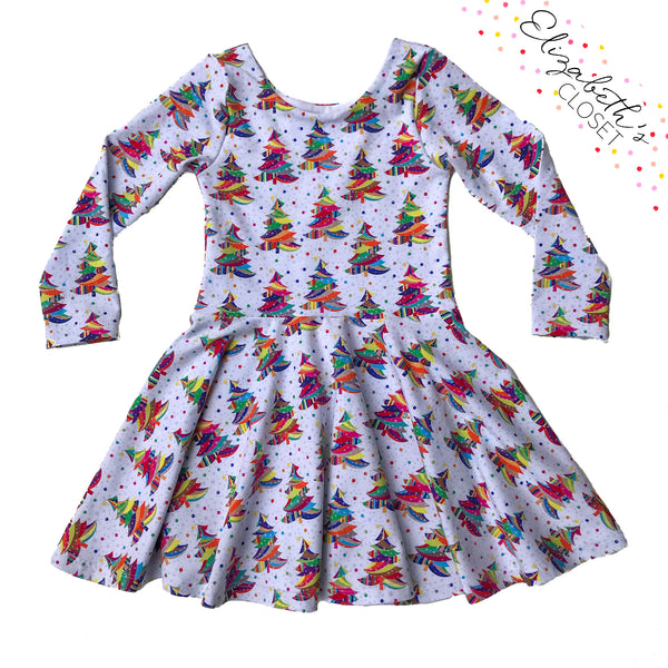 Colorful Christmas Tree Dress