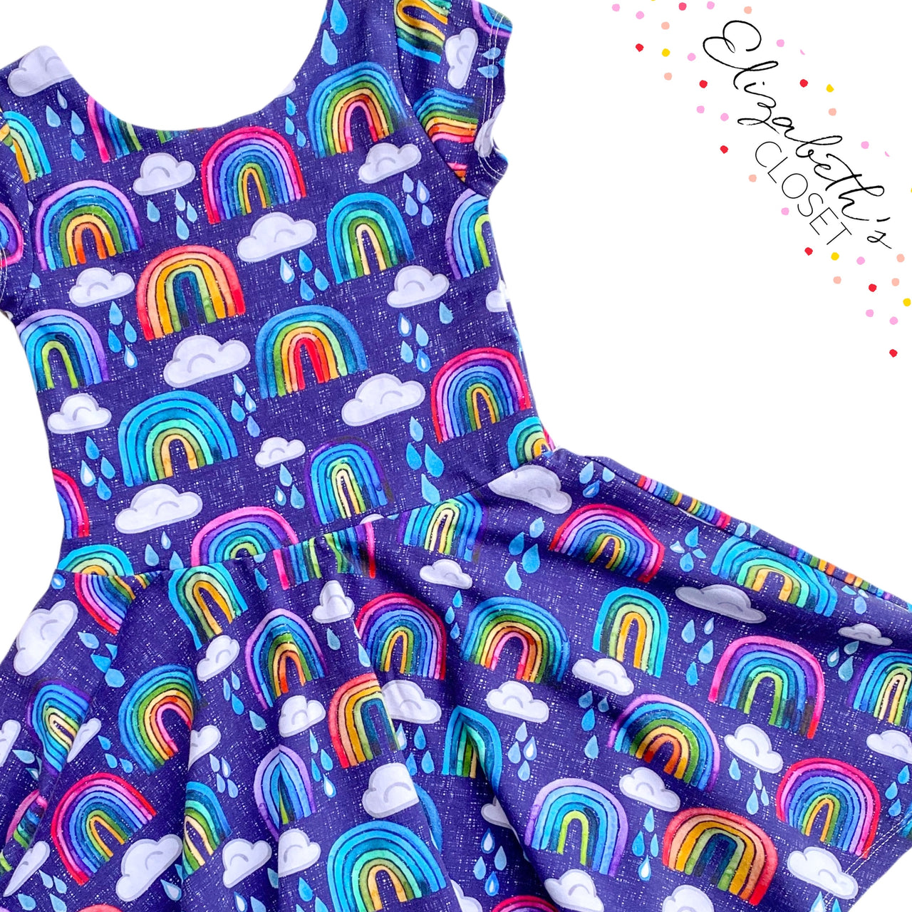 Blue Rainbow Dress