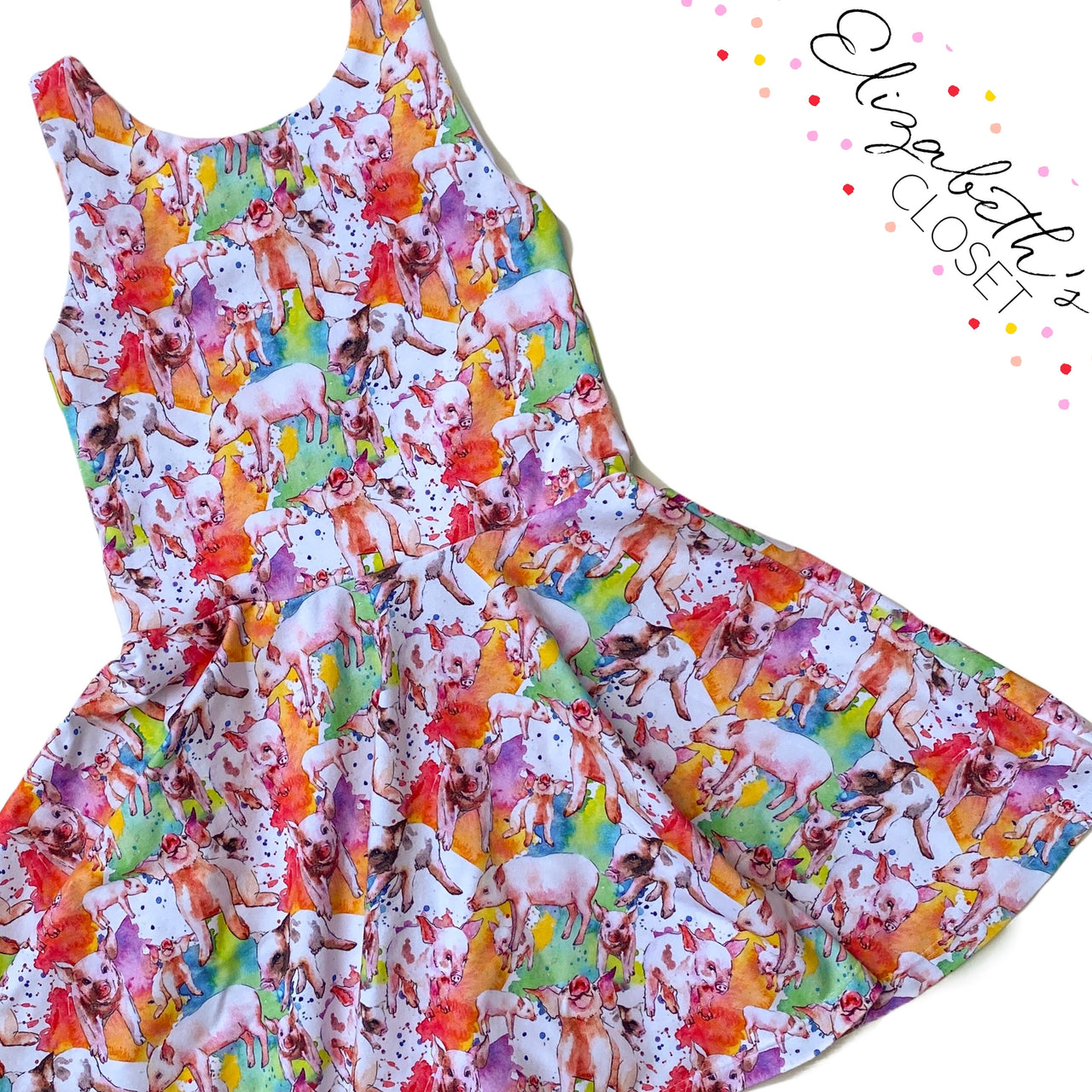 Colorful Pig Dress