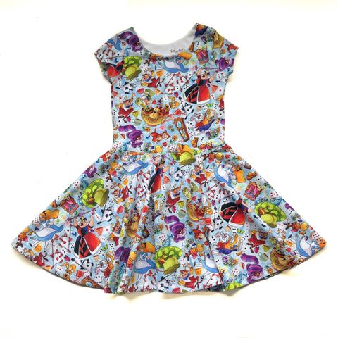 Alice in Wonderland Twirl Dress