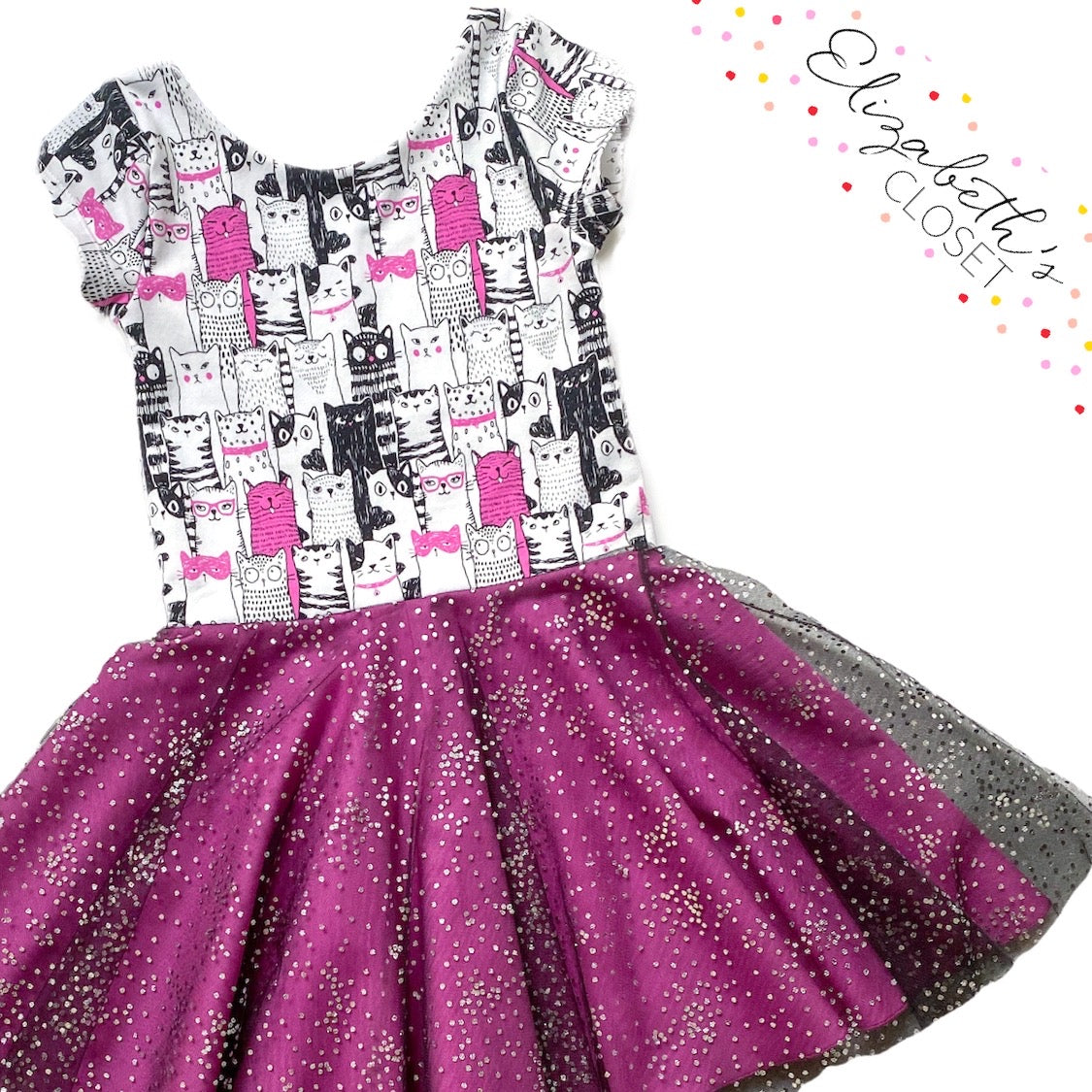 Cat Tulle Twirl Dress