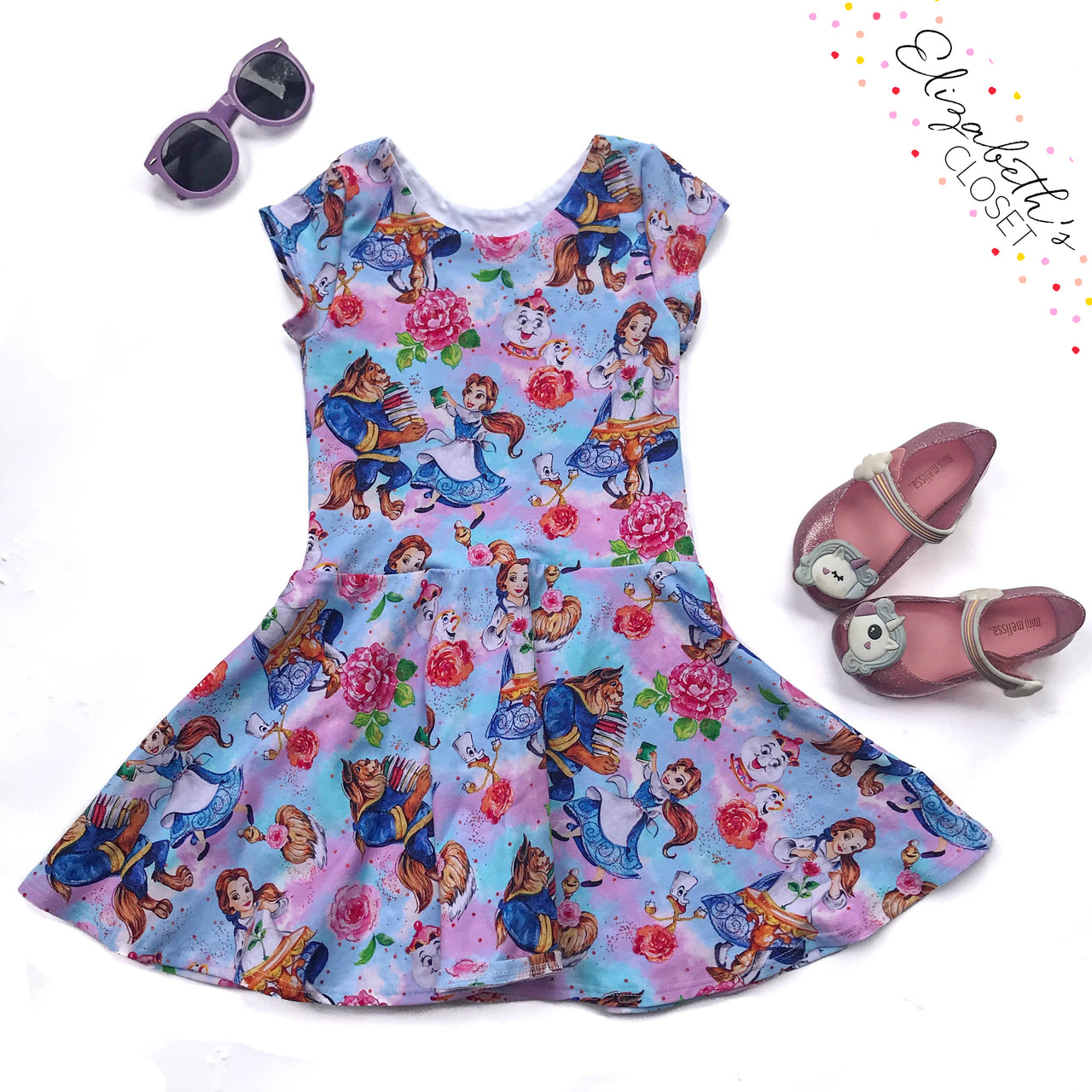 Blue Reading Princess Dress