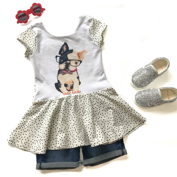 Smart Puppy Peplum Top - Elizabeth's Closet