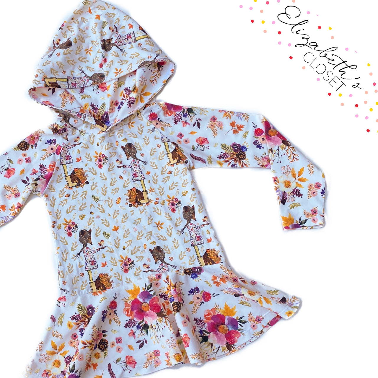 Floral Fox Hooded Peplum