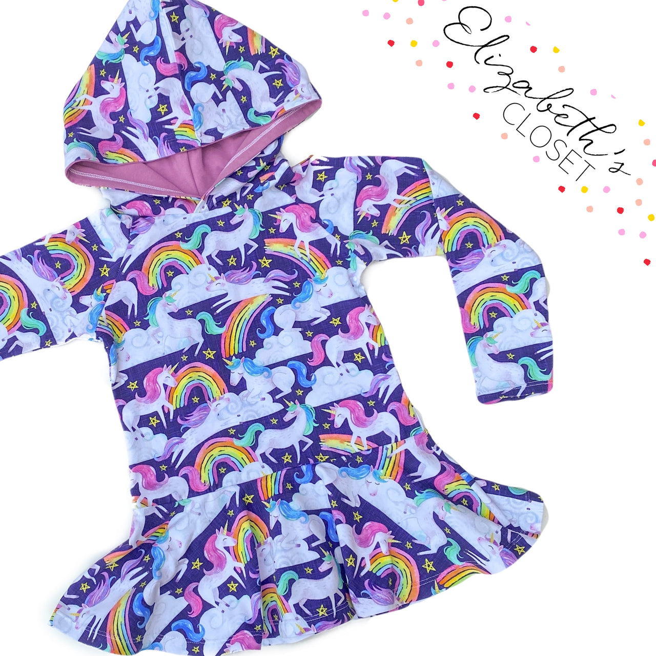Unicorn Hooded Peplum