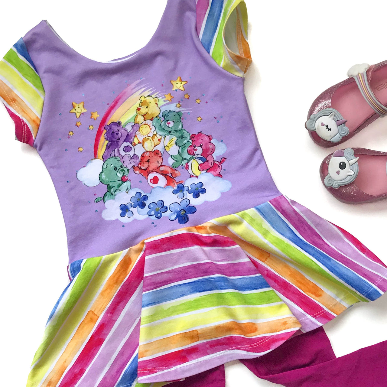 Rainbow Bears Peplum Top