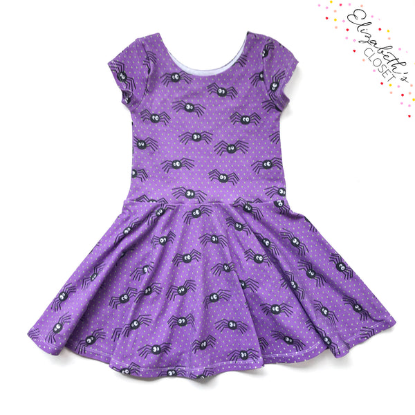 Purple Spider Dress - Twirl Dresses
