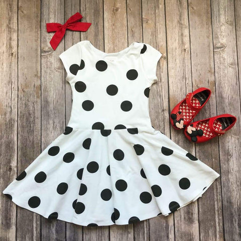 Black And White Polka Dot Twirl Dress - Twirl Dresses