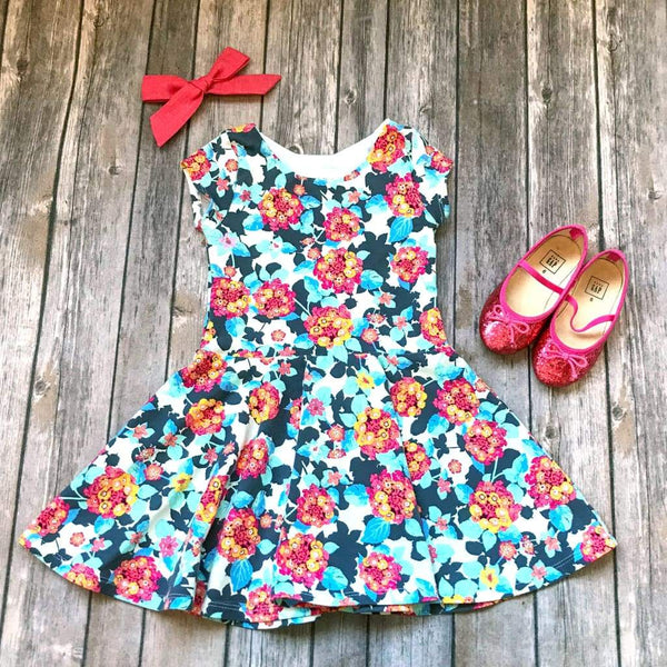 Bright Summer Floral Twirl Dress - Elizabeth's Closet