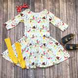 Chicken Farmyard Twirl Dress - Twirl Dresses