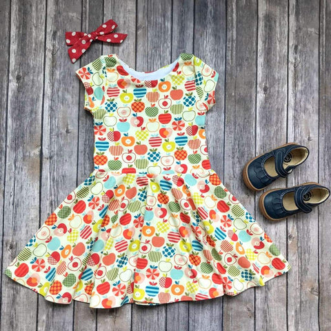 Colorful Apple Twirl Dress - Twirl Dresses