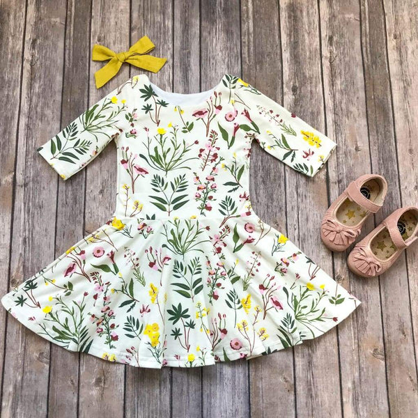 Fall Wildflower Twirl Dress - Elizabeth's Closet
