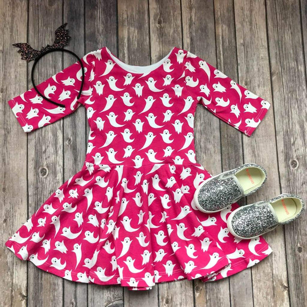 Halloween Ghost Twirl Dress - Elizabeth's Closet