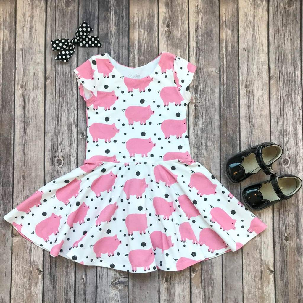 Piggie Pig Twirl Dress - Elizabeth's Closet