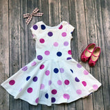 Purple Polka Dot Twirl Dress - Twirl Dresses
